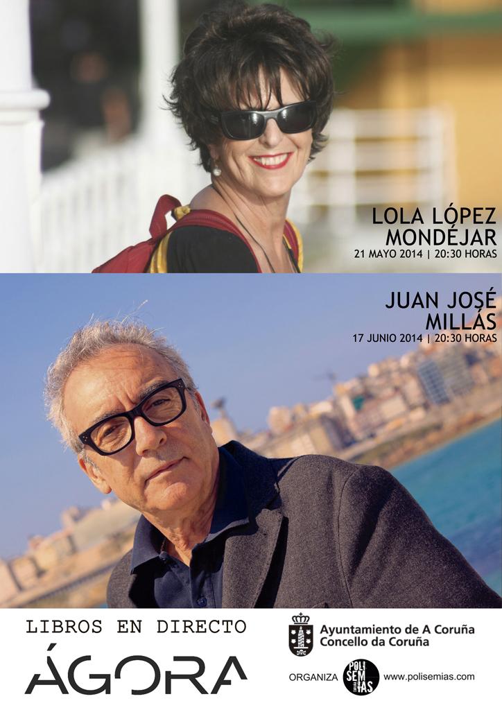 Lola López Mondéjar y Juan José Millás